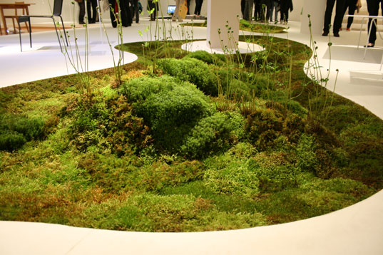 sustainable design, green design, moss planter, tokyo fiber 2009, milan furniture fair, makoto azuma, unitika, terramac, gardening, biodegradable planter