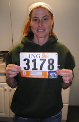 me with my runner's number