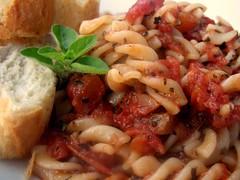 Fusilli in a Tomato & Wine Sauce