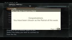 Metal Gear Online - Patriot of the Week!