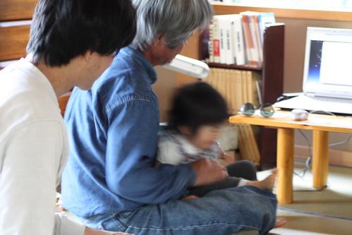 姪と父と私