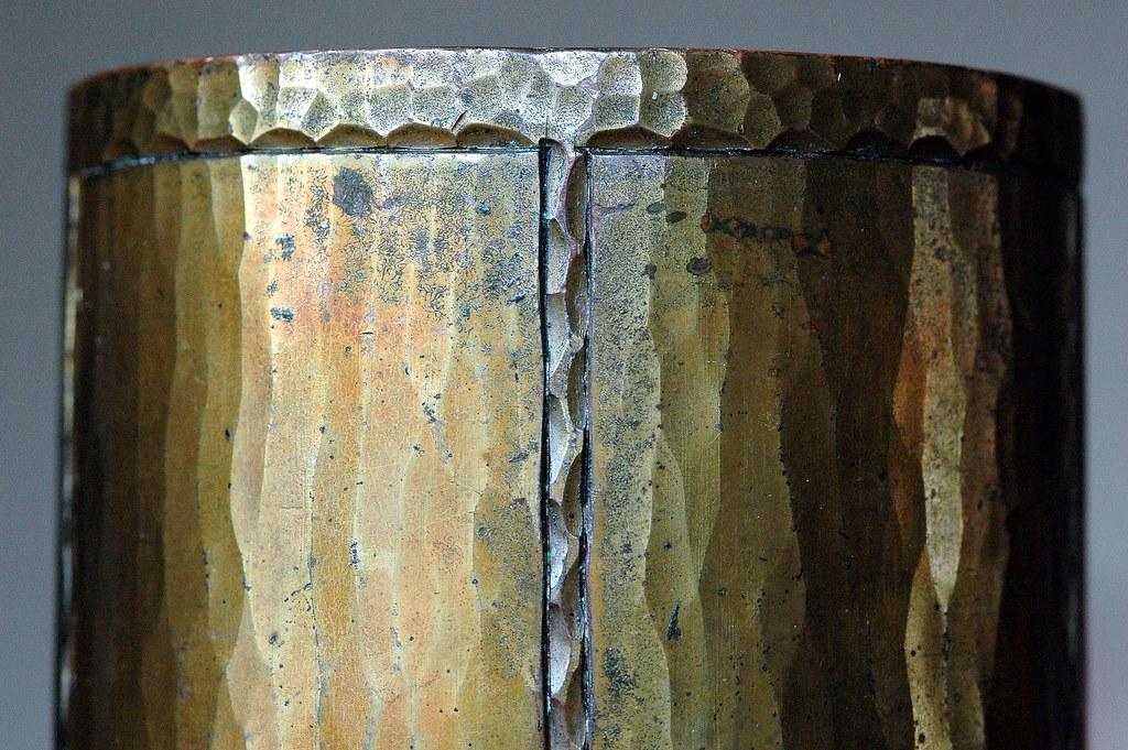 Roycroft 7 inch cylinder vase - base 1