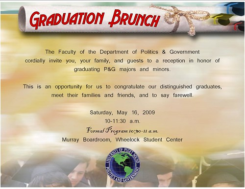 pg grad invitation 2009