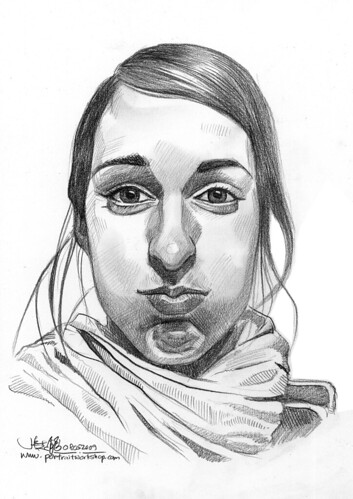 Pencil portrait of Alenka