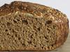 Whole Wheat No Knead Bread with Almonds and Pumpkin Seeds