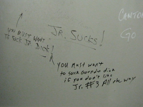 Graffiti in the Darlington Mens Room