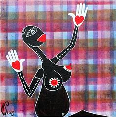 late Annunciation 2009 william vecchietti acrilici su tela cm30x30