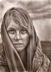 immortal light (Gaya _Q8) Tags: portrait art girl face pencil hair sketch drawing awesome artcafe aplusphoto