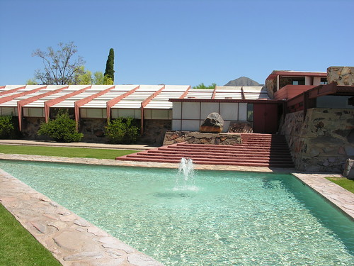 Taliesin West with the pool