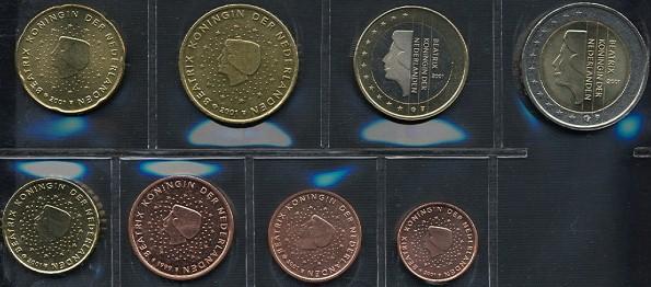 Sada mincí 1 cent - 2 euro Holandsko 2001