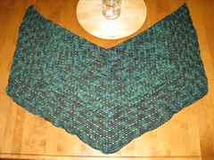 Finished Eva's Shawl
