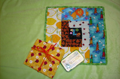 May STUD quiltie and extra goodies received from Amdensspace