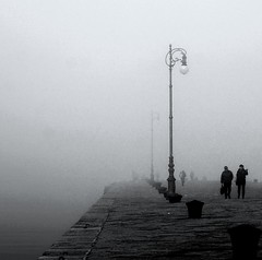 Conversazioni (paololongo48) Tags: photography gallery fine nebbia due molo trieste the bwdreams of conversazioni blackwhiteaward artinbw theperfectphotographer monochromaticvisions