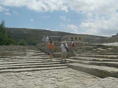 ancient amphitheatre at knossos - spectators stood, not sat