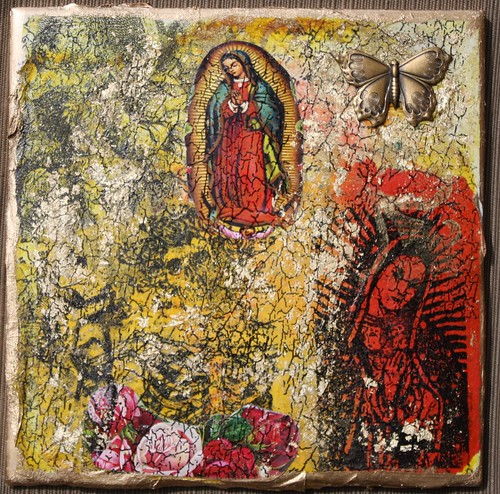 Guadalupe Mixed Media Faux Fresco Tile by you.