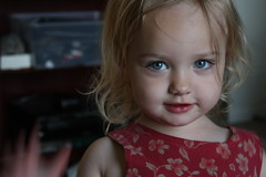 Baby blue eyes (Sarah Ross photography) Tags: baby girl toddler sweet g adorable gemma blonde curlyhair sute sarahr89 sarahrossphotography