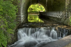 Historic Tunnel and Falls (loopyphotos) Tags: park railroad nature creek waterfall brighton allens tunnel falls glen explore corbetts