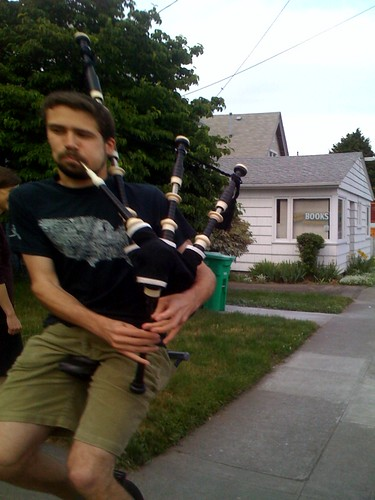 Brian, the bagpipe unicyclist