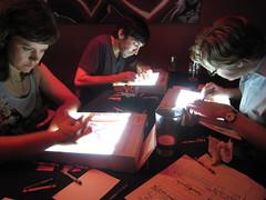 moar drawing! (annieee) Tags: newyork drawing m15 drinkinganddrawing timshey danmeth kathleengrace