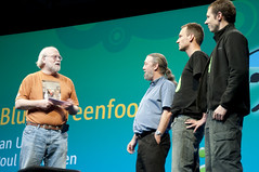 "Ian Utting, Poul Henriksen, Davin McCall and James Gosling, General Session ""The Toy Show"" on June 5, JavaOne 2009 San Francisco"