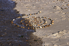 sand-shell spiral (maesecouogne) Tags: sea summer sun love sand peace tide norfolk northsea harmony change eternity hunstanton tranquillity