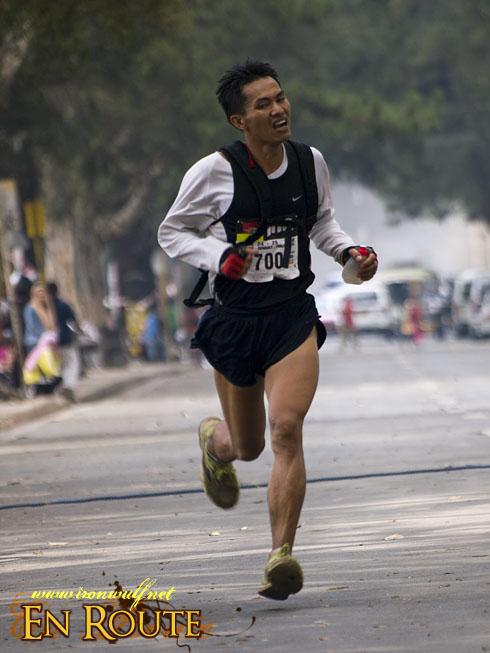 TNF 100 Trail Run 50k runner Gold Winner Julius Bay-An