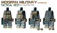 Tactical vest fully adjustable (Shobrick) Tags: dan modern cat amazing lego military si vest minifig custom armory ammo pouches kevlar adjustable warfare tactical removable shobrick