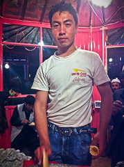 Afghan Ice Cream Vendor in In-N-Out t-shirt