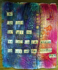 Graffiti poetry, textile style