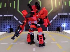 HF SAG3 - Ra (Centurion Mode) (Red_Robot_XIII) Tags: mobile lego frame zero mecha microscale mfz mf0