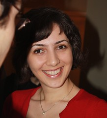 Sahar smiling