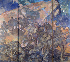 A Tank In Action. Frank Brangwyn c.1925