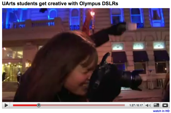 Example of the Olympus RC Wireless Flash system in action