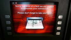 Thanks for the fucking helpful error message, HSBC!, ATM, Clerkenwell, London, UK.JPG