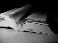 Lettura spasmodica - Spasmodic reading. (sinetempore) Tags: light blackandwhite book libro page pagina biancoenero supershot flickraward rubyphotographer