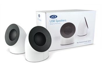 LaCie USB Multimedia Speaker System - 2.0-channel - 2W (RMS)