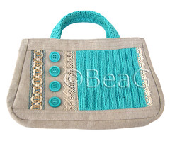 Handbag 'Blue Stitches' (Handtas) (Made by BeaG) Tags: blue original vintage bag creativity design artist belgium natural designer handmade lace buttons unique oneofakind ooak kunst crochet belgi canvas creation purse recycle trim handbag unica reuse unicum repurpose innovative handtas beag innovatief knitwork kunstenares uniquedesign ontwerpster uniquebags originaldesigner creativedesigner bluestitches uniquebag designedandmadebybeag uniekontwerp ontworpenengemaaktdoorbeag unieketas unieketassen