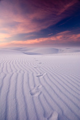 footprints (dicksoto) Tags: sunset newmexico sand whitesands footprints ripples gypsum whitesandsnewmexico
