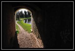 Tunnel of Light (SteveAvenged7X) Tags: light water canal nikon path tunnel footpath aplusphoto