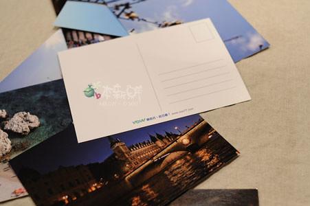 利用VOW影像平台印製的明信片