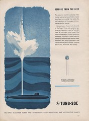 Tung-Sol Ad (bustbright) Tags: vintage ads advertising design march graphics technology graphic tech science 1961