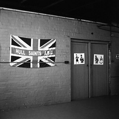 Hull Saints ABC (RobSalmon) Tags: hull saits abc boxing club east yorkshire muhammad ali union jack flag uk united kingdom square format 6x6 bronica sq sqa ilford delta 3200 black white film pushed 6400 developed id11 stock 10 portrait photo journalism park essay hairy rob hairyrob robert salmon british sparing sparring