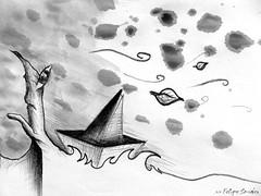 Pescando  /  Un insomnio y un resfro (Felipe Smides) Tags: ocean chile santiago sea storm color eye art coffee caf colors pencils paper hojas ojo mar barco arte wind drawing amor lapiz viento colores sueos nadar dreams tormenta draw papel dibujos aire navegar felipe amar barquito vuelo ocano lapices volar bocetos artisticexpression instantfave mywinners abigfave aplusphoto beatifulcapture colourartaward colorartaward artlegacy smides felipesmides dibujossmides