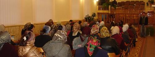 Ionel Druţă spune mărturia la biserica din Corjeuţi