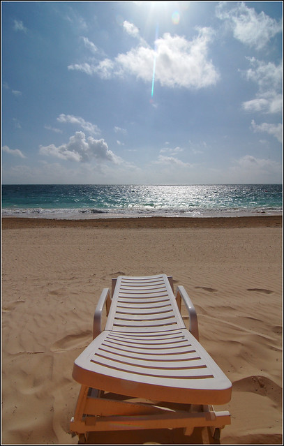 A beach chair in cancun