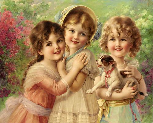 Дети старинные картинки открытки и