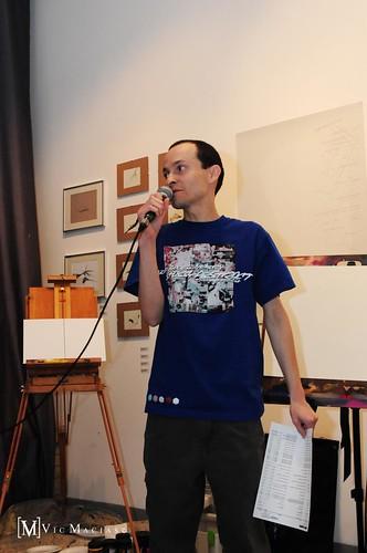 Exhibition curator and artist Gustavo Alberto Garcia Vaca