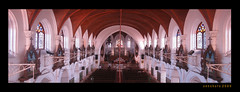 San Thome Church, Chennai _ Interior Panorama (SenShots / Senthilmani's Photography) Tags: wood old roof panorama brown india white building church window colors architecture lights one woodwork colorful interiors arch christ angle cathedral chairs god buried thomas tomb madras group perspective culture belief stainedglass lord grill divine aisle pointofview chandelier repetition trust strong lamps lantern tradition spiritual curved chennai powerful 2009 tamilnadu stthomas almighty southindia roofless santhome oneness apostle mylapore archwindow chirstianity santhomechurch topangle santhomecathedral senshots armsenthil chennapatnam topanlge chennaipatnam madrasapatnam
