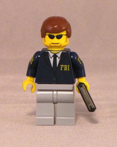 FBI custom minifig agent