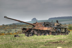 (feral_platypus) Tags: uk greatbritain england canon mod rust tank unitedkingdom gb artillery rusting hdr highdynamicrange salisburyplain tanks eos1ds photomatix